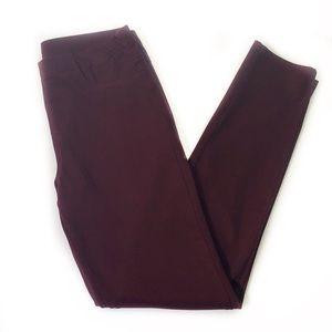 Uniqlo • Burgundy Pull On Legging Pants